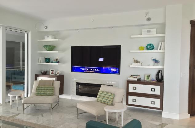 Wenge bases with high gloss fronts Entertainment center