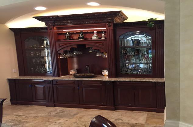Custom Mahogany Bar area Pohl