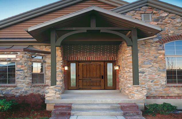 Refinish exterior doors
